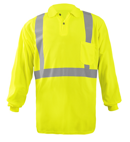 occunomix-lux-lspp2b-long-sleeve-wicking-birdseye-polo-shirt-w-pocket-front-yellow.png
