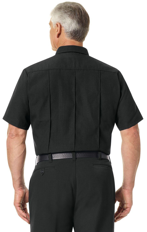 Workrite FR Firefighter Shirt FSF2 Classic Short Sleeve Black Example Back