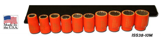 "Cementex ISS38-10M 3/8"" Square Drive Metric Socket Kit, 10PC"