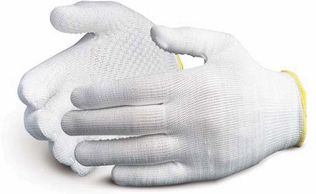Superior Glove Cut Resistant String Knit Dyneema Gloves w/ PVC Dotted Palms S13DYD