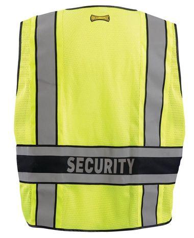 Occunomix LUX-DPSSE-DOR Deluxe Solid/Mesh Break-Away Public Safety Vest w/DOR, Security Back