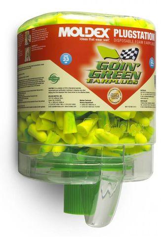 Moldex Goin' Green Foam Earplugs 6646 250 Pair PlugStation Dispenser