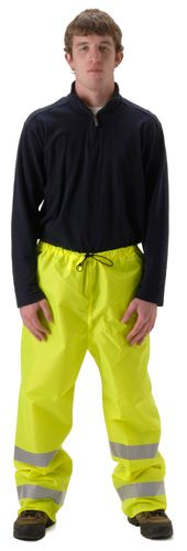 nasco worklite yellow hi viz lightweight tear resistant foul weather pant
