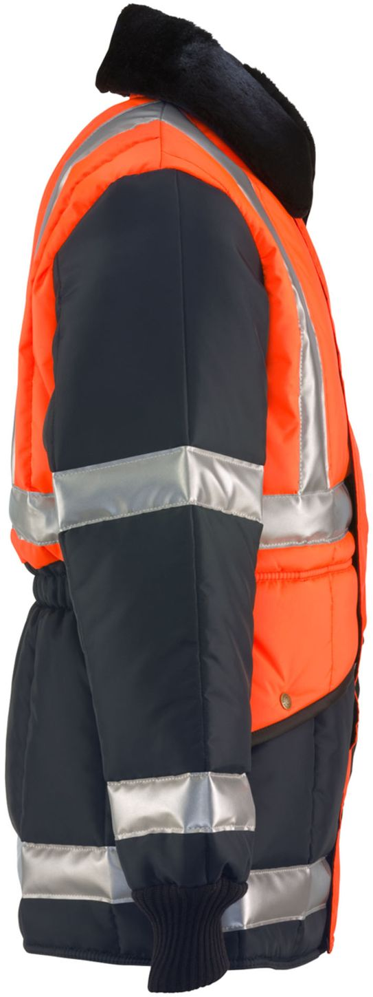 RefrigiWear 0342 - HiVis Iron-Tuff Two-Tone Jackoat Orange-Navy Right Side