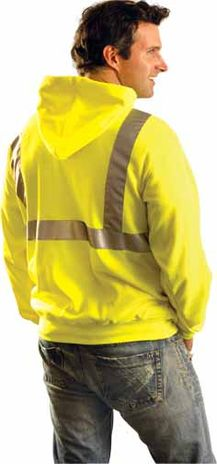 Occunomix Sweatshirt LUX-SWTLH Lightweight Hooded Pullover - High Visibility Example Back