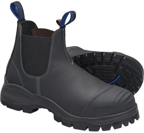 Blundstone 990 XFOOT Rubber Elastic Side Slip-On Steel Toe Boots - Water Resistant