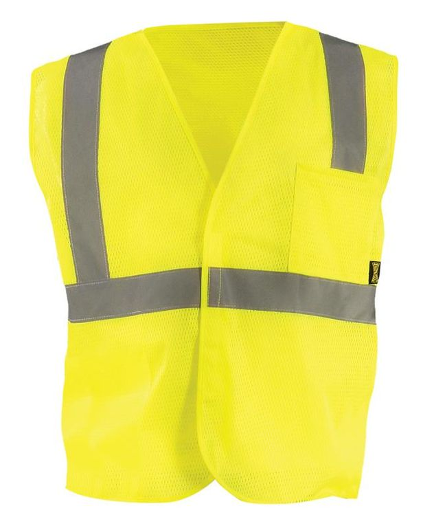 Occunomix ECO-IM Mesh Standard High Visibility Vest Front Yellow