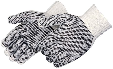 Liberty 4715Q Two-Sided Black PVC Dotted Gloves