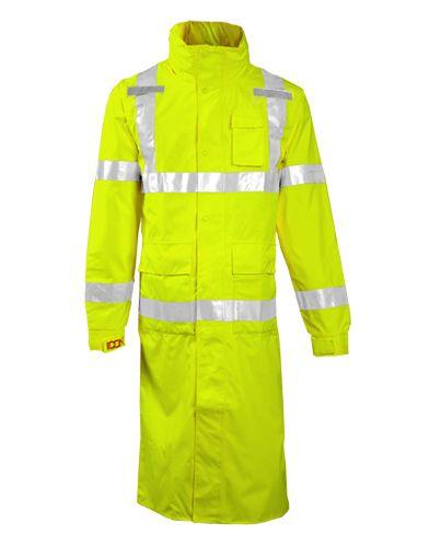 "Tingley Icon Hi Vis Waterproof Work Coat C24122 - Yellow, 48"""