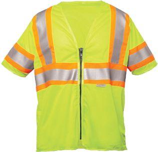 OK-1 Safety Vests ILDOT3MZ-04 - Two-Tone Class 3 Mesh