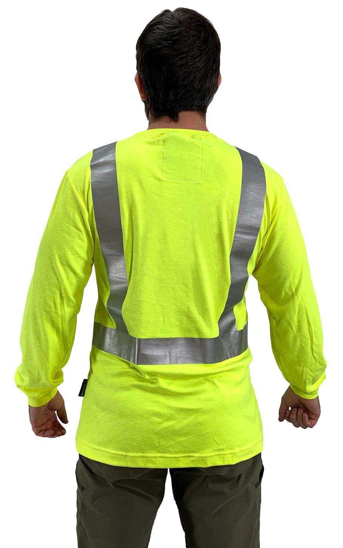 Occunomix Hi Vis FR Fire Retardant Arc Flash Long Sleeve Shirt - FR-TM2212 Back