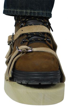 CPA 351 Hot Foot Wooden Sole Sandals - Front View