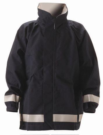 nasco mp3 arc flash fire chemical resistant breathable rain jacket navy