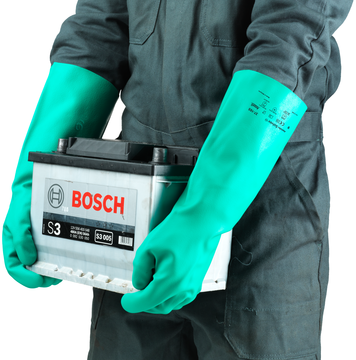 Ansell Sol-Vex Unsupported 22 mil Nitrile Premium Gloves Example