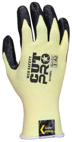 MCR Safety UltraTech Gloves 9693 Aramid Cut Protection with Textured Nitrile Palms Back