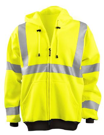 Occunomix LUX-HZSWT Full Zip Hoodie Front Yellow