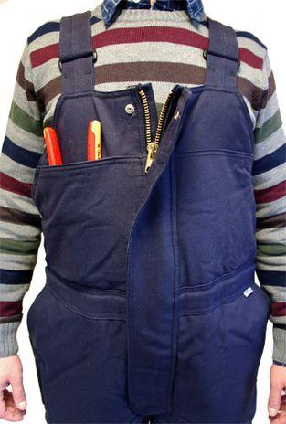Workrite FR Winter Bib Overall - Front Detail