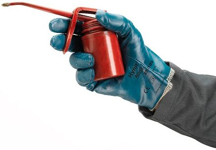 Ansell Hynit Work Gloves 32-125 Nitrile Impregnated - Vented Back Example
