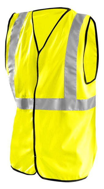 Occunomix Classic Solid Economy Hi Vis Safety Vest LUX-SSG Yellow Front