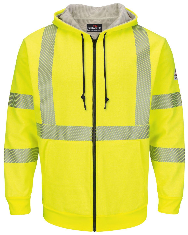 bulwark-fr-hi-visibility-smz4-fleece-zip-front-hooded-sweatshirt-waffle-lining-yellow-green-front.jpg