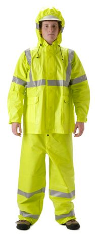 nasco arclite hi viz yellow arc flash rain suit