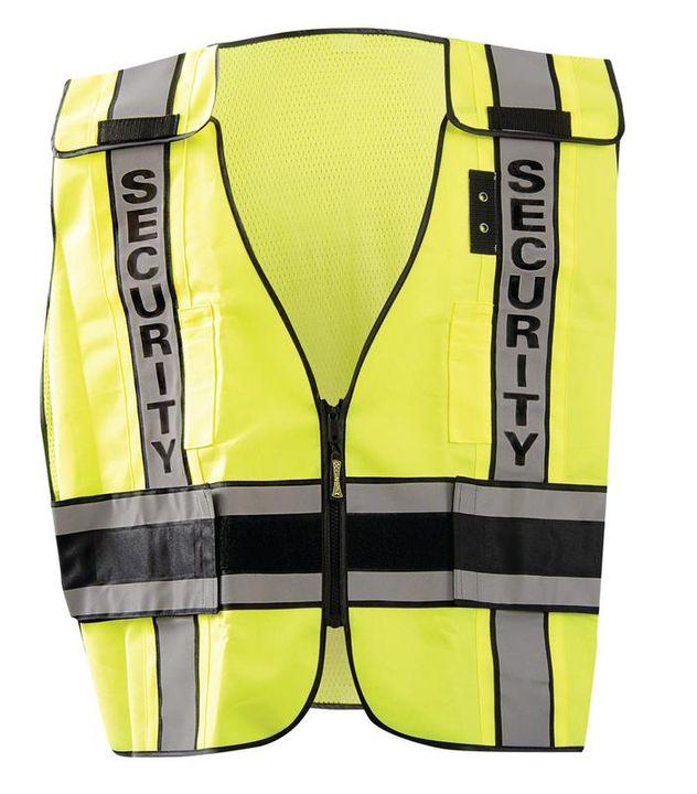Occunomix LUX-DPSSE-DOR Deluxe Solid/Mesh Break-Away Public Safety Vest w/DOR, Security Front