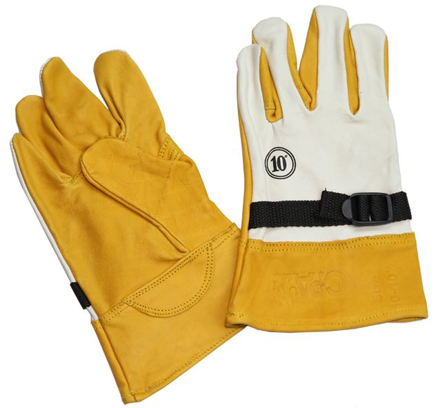 CPA Lineman's Low Voltage Leather Protector Gloves PG-0-ADJS