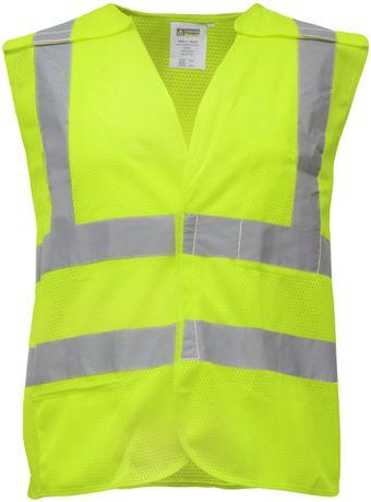 RefrigiWear 0197 Break-Away Mesh Safety Vest Lime Front