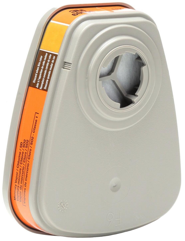 3M 6009 Mercury Vapor & Chlorine Gas Cartridges Back