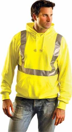 Occunomix Sweatshirt LUX-SWTLH Lightweight Hooded Pullover - High Visibility Example Front