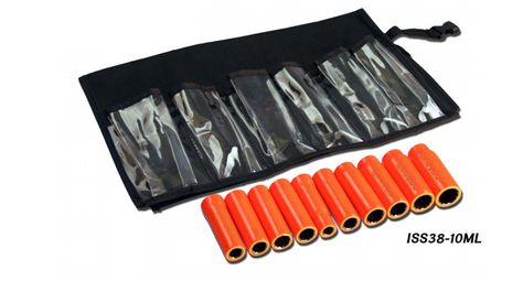 """Cementex ISS38-14ML Insulated 3/8"""" Square Drive Deep Socket Set, 14PC"""
