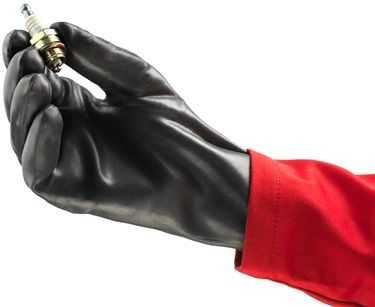 Ansell Edge Slip-on Gloves 40-105 Heavy Porous Nitrile Dipped Example