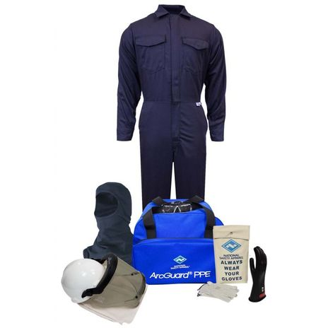 National Safety Apparel Arc Flash Suit KIT2CV11 12 Calorie With Coverall And Balaclava HRC 2