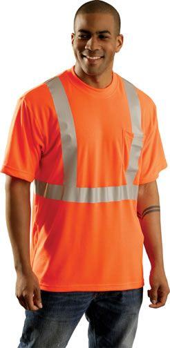 Orange Color Hi Vis T-Shirt - Occunomix Occulux LUX-SSTP2