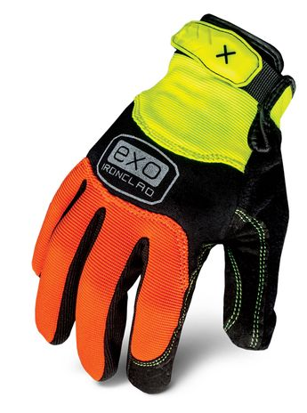 Ironclad exo-hza hiviz abrasion glove_back