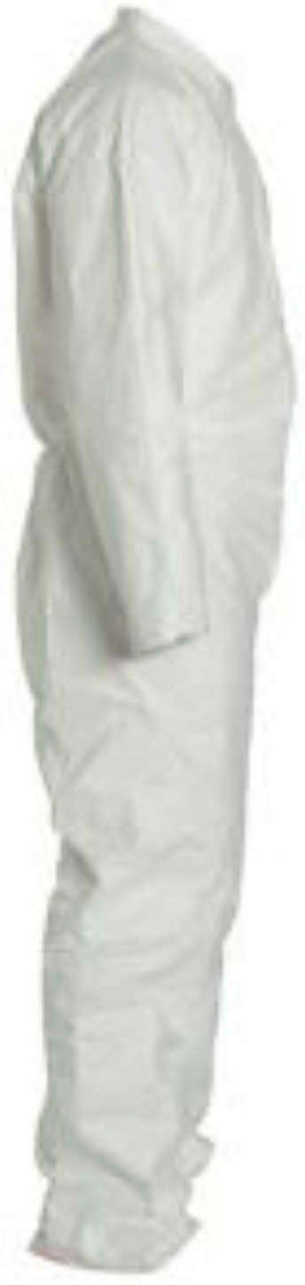 DuPont Tyvek Coverall with Collar - Open Wrists and Ankles - TY120SWH Right Side
