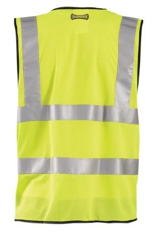 Occunomix OccuLux Cool Mesh and High Visibility Vest LUX-SSCOOLG Back Yellow