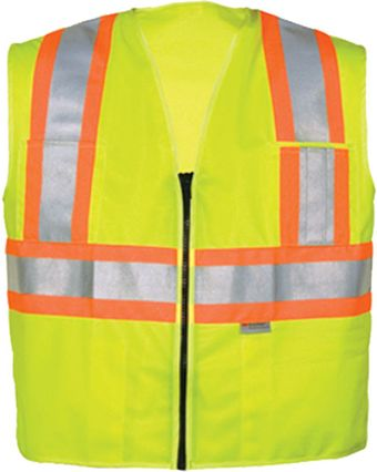 OK-1 Safety Vests 5050511, 5050512 - DISCONTINUED Fluorescent Lime