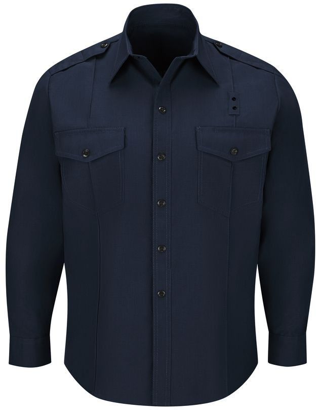 Workrite FR Chief Shirt FSC0 Classic Long Sleeve Midnight Navy Front