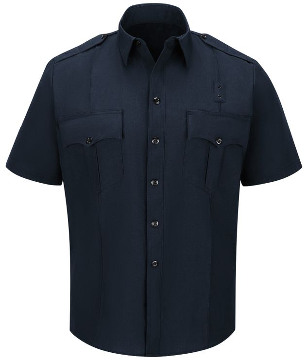 Workrite FR Fire Officer Shirt FSE2, Classic Short Sleeve Midnight Navy Front