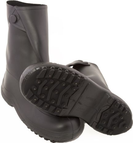 """Tingley 1450 Ice Traction Rubber Overboots - 10"""" Tall with Steel Spikes"""