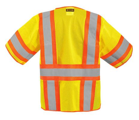 Occunomix Two-Tone, High Visibility, Half-Sleeve Mesh Vest LUX-HSCLC3Z Back