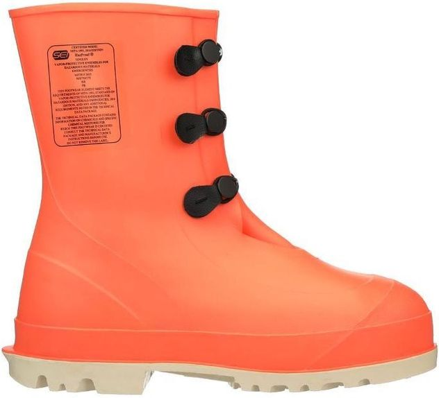 """Tingley 82330 Hazmat Boots HazProof - Orange, Steel Toes, 11"""" Tall Side"""