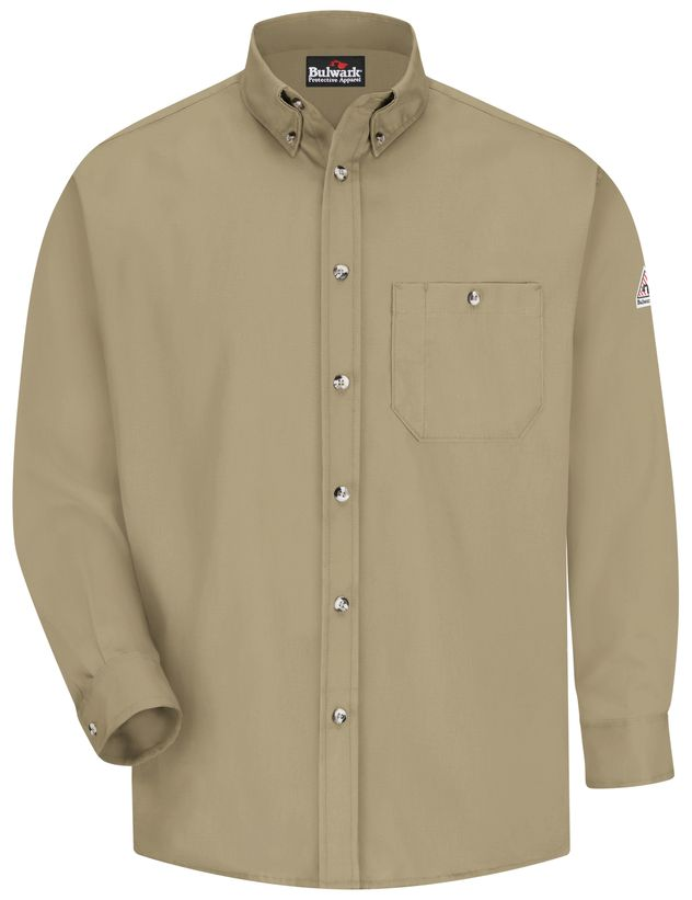 bulwark-fr-shirt-seg6-lightweight-excel-dress-khaki-front.jpg