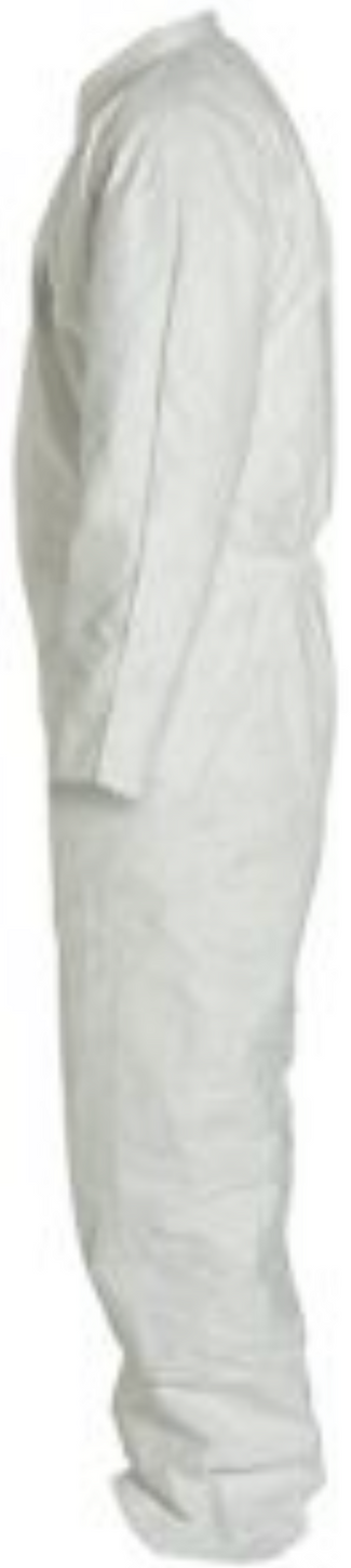 DuPont Tyvek Coverall with Collar - Open Wrists and Ankles - TY120SWH Left Side