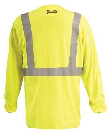 Occunomix Hi Vis FR Fire Retardant Arc Flash Shirt - LUX-LST2/FR Back
