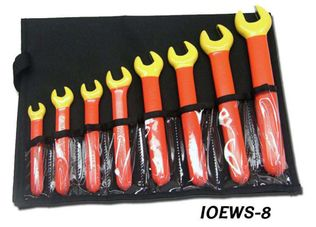Cementex IOEWS-8 Insulated Open End Wrench Set, 8PC