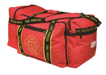 OK-1 Fire Fighter Gear Bag 3000 - Red, with Shoulder Strap