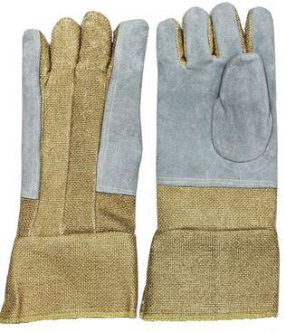 CPA High Heat Foundry Gloves - Zetex Plus with Leather Palms
