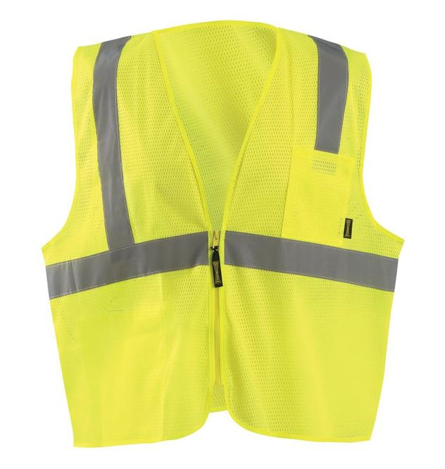 Occunomix ECO-IMZ Mesh Standard Vest With Zipper Front Yellow